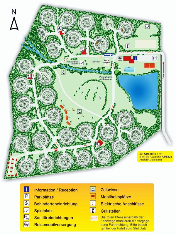 De plattegrond van Camping Reinsfeld